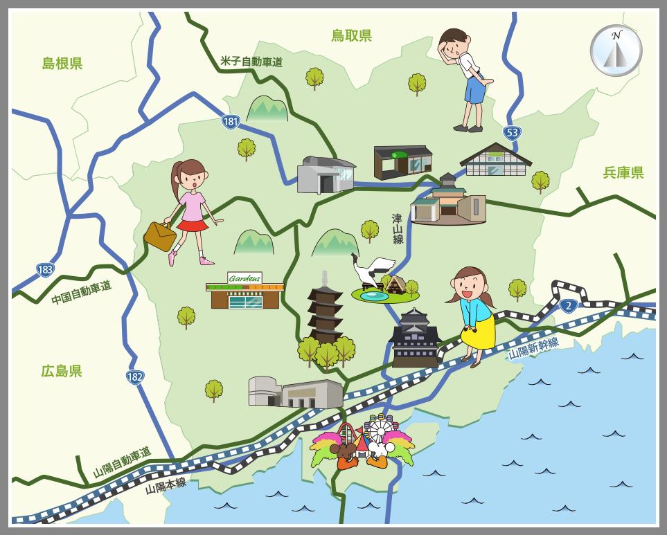 ホームメイト・リサーチ】岡山県の観光マップ・レジャーマップ