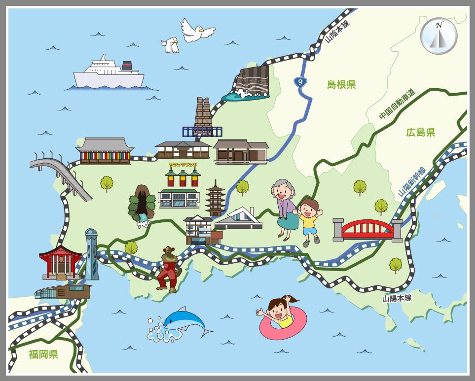 地図 山口 県