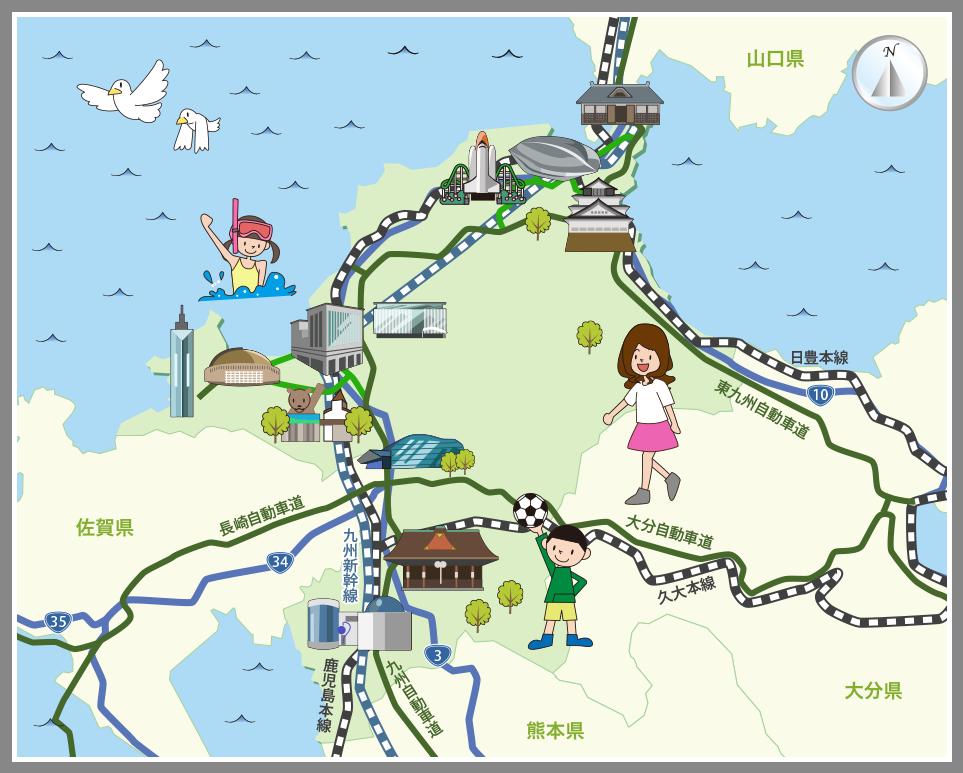 ホームメイト・リサーチ】福岡県の観光マップ・レジャーマップ
